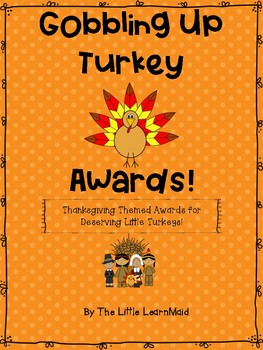 Thanksgiving Turkey Awards for Students