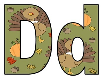 Thanksgiving Turkey BB Letters