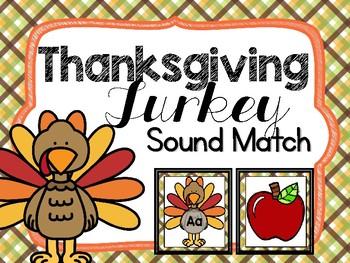 Thanksgiving Turkey Beginning Sound Sort