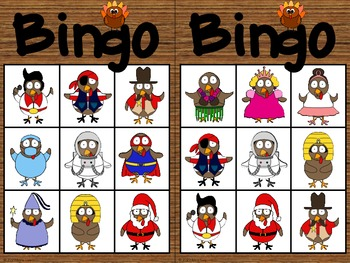 Thanksgiving Turkey Bingo (English)