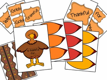 Thanksgiving Turkey Bulletin Board Kit