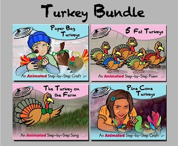 Turkey Bundle - Animated Step-by-Step Poems & Crafts