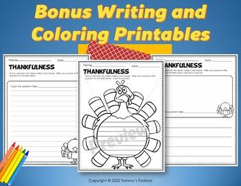 Thanksgiving Turkey Card Game Activity