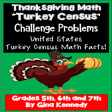 Thanksgiving Math Challenge Problem-Solving! Turkey Census Facts!