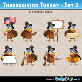 Thanksgiving Turkey Character – Set 2 - All Formats