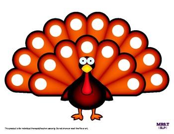 Thanksgiving Turkey Chip/Dauber Reinforcer