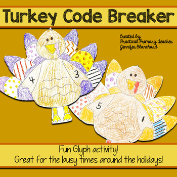 Thanksgiving Turkey Glyph Activity