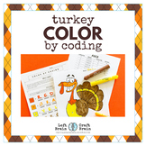 Thanksgiving Turkey Color by Coding STEAM Activity