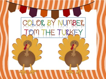 Thanksgiving Turkey Color by Number