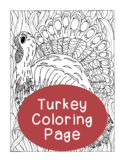 Thanksgiving Turkey Coloring Page, Bulletin Board, Adult Coloring