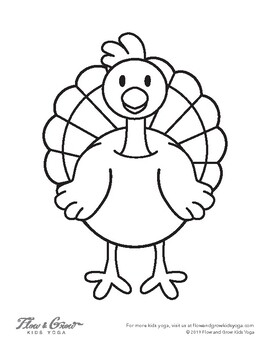 Thanksgiving Turkey Coloring Plage