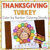 Thanksgiving Turkey Coloring Sheets (English and Spanish)