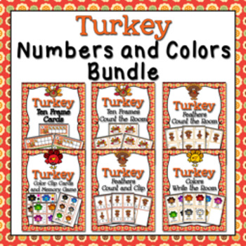 Thanksgiving Turkey Colors and Numbers Bundle