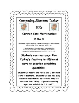 Thanksgiving Turkey Compose A Number