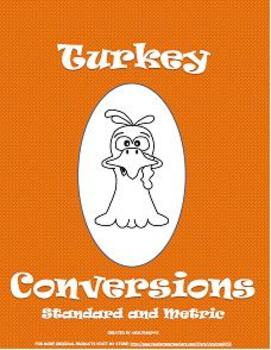 Thanksgiving Turkey Conversions Craftivity: Standard & Metric