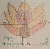 Thanksgiving Turkey Coordinate Plane Graphing Picture FUN Holiday Activity
