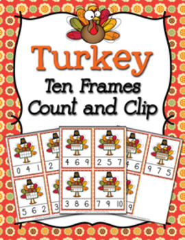 Thanksgiving Turkey Count and Clip Cards Numbers 0-10