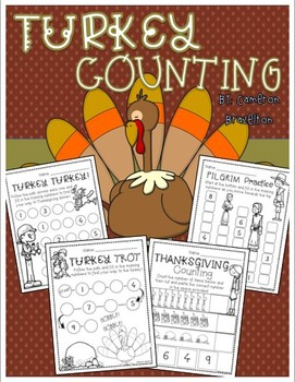 Thanksgiving Turkey Counting 1-10 Activities