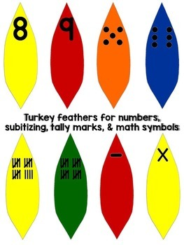 Thanksgiving Turkey Counting, Number Sequencing Math Center (Common Core)
