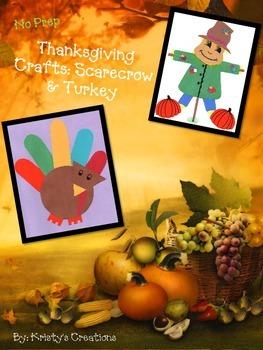 Thanksgiving Crafts: Turkey & Scarecrow