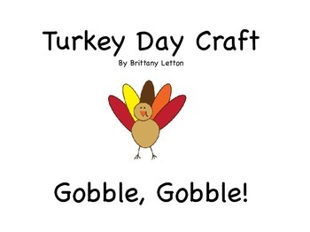 Thanksgiving Turkey Craft - Two Size Options!
