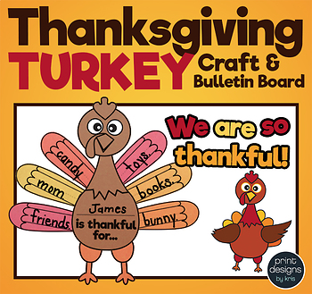 Thanksgiving Turkey Craft and Bulletin Board