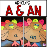 Determiners A and An   Thanksgiving Craft   Grammar Activity
