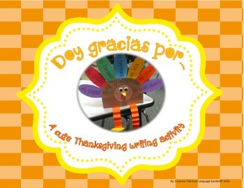 Thanksgiving: A Turkey Craftivity for Spanish or English