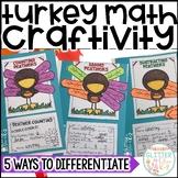 Thanksgiving Turkey Math Craft- Differentiated