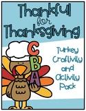 Thanksgiving Turkey Craftivity and Activities