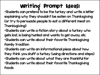 Thanksgiving Turkey Craftivity and Creative Writing