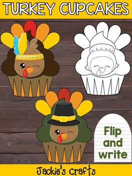 Thanksgiving Turkey Cupcakes - Jackie's Craft Activity, Writing, Activities