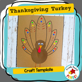 Thanksgiving Turkey Craft: Cut and Paste Template
