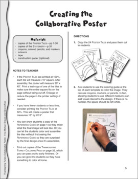 Thanksgiving Turkey Day Collaborative Poster: Bulletin Board & Writing Activity