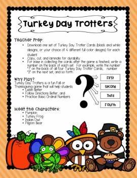 Thanksgiving Turkey Day Trotters Listening Activity