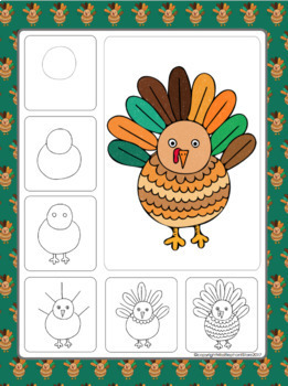 Thanksgiving Turkey Directed Drawing