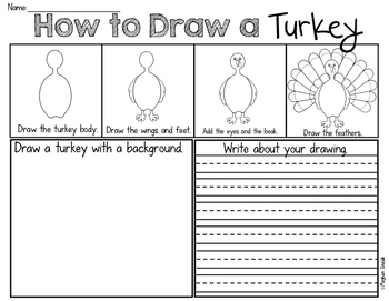 Thanksgiving Turkey Draw and Write Freebie