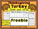 Thanksgiving Turkey Draw and Write Freebie