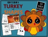 Thanksgiving TURKEY - Draw with Shapes