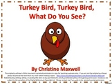 Thanksgiving Turkey Easy Reader With Color Words