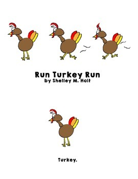 Thanksgiving Turkey Emergent Reader
