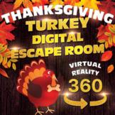Thanksgiving Turkey Escape Room Completely Digital - NO PREP