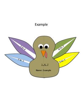 Thanksgiving Turkey Fact Families Craft Activity