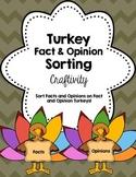 Thanksgiving Turkey Fact & Opinion Craftivity