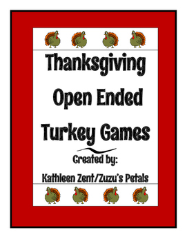 Thanksgiving Turkey Feather Games