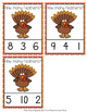 Thanksgiving Turkey Feathers Count and Clip Cards Numbers 0-10
