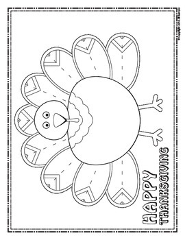 Thanksgiving Turkey - Finish the Picture (Symmetry) & Coloring Sheet