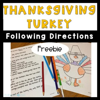 Thanksgiving Turkey Following Directions Freebie