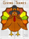 Thanksgiving Turkey Mystery Picture - 4 Quadrants : Distance Learning