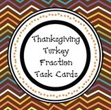 Thanksgiving Turkey Fraction Task Cards